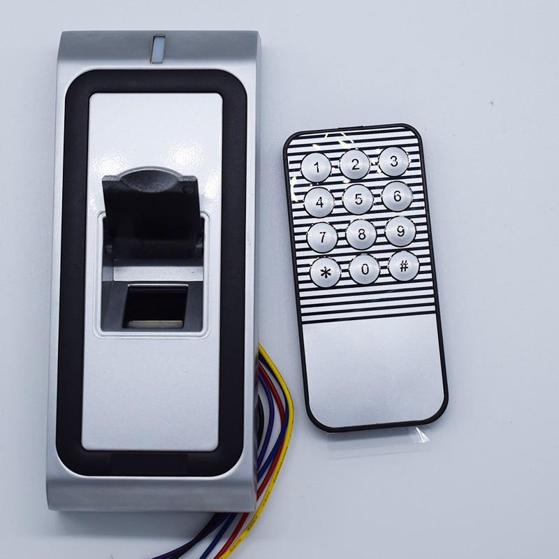 Full metal Fingerprint Biometric access control system rfid reader door access control +5pcs id card +5pcs id keyfob