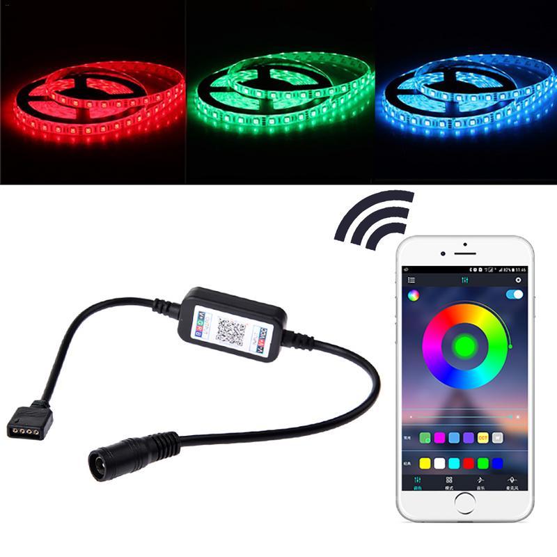 3 vías Bluetooth RGB LED Controlador de luz DC 5 V-24 V Mini Dimmer para tira LED RGB