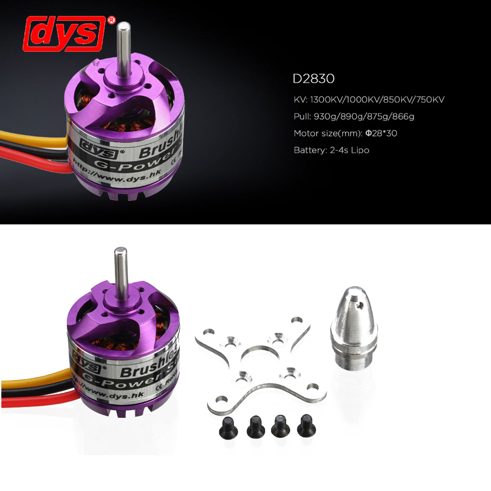 DYS D2830 750KV/1000KV Brushless Motor For Rc Multicopter