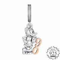 Limited Edition 90th Anniversary Dangle Charm Fits Pandora Bracelets Charms Silver 925 Original 2018 Cartoon Golden Hanging Bead