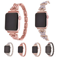 Applicable To For Apple Watch Band Strap Diamond Butterfly Metal Stainless Steel Belt Iwatch