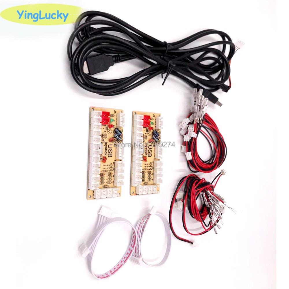 DIY Нулевая задержка аркадный USB кодировщик ПК для джойстика файтингов запасные части доска кодировщика + Проводные кабели
