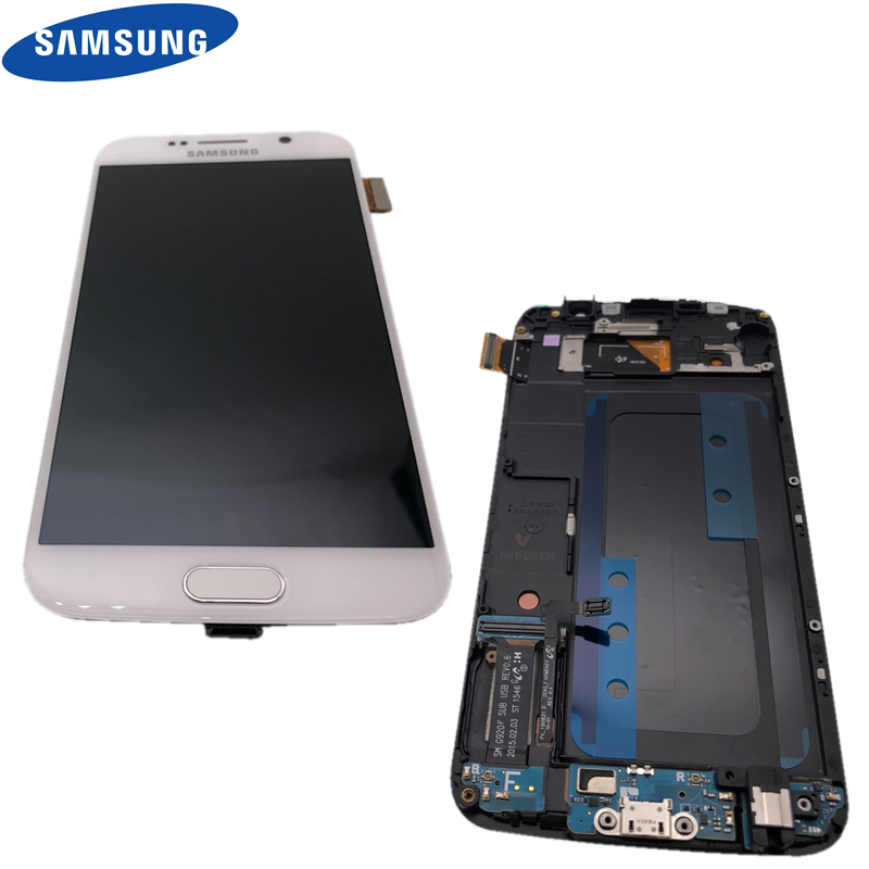 2560 1440 5 1 ORIGINAL LCD Display With Touch Screen Digitizer for SAMSUNG Galaxy S6 Display