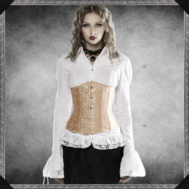 Black corset steel boned tight lacing waist training wide belt waspie all sizes