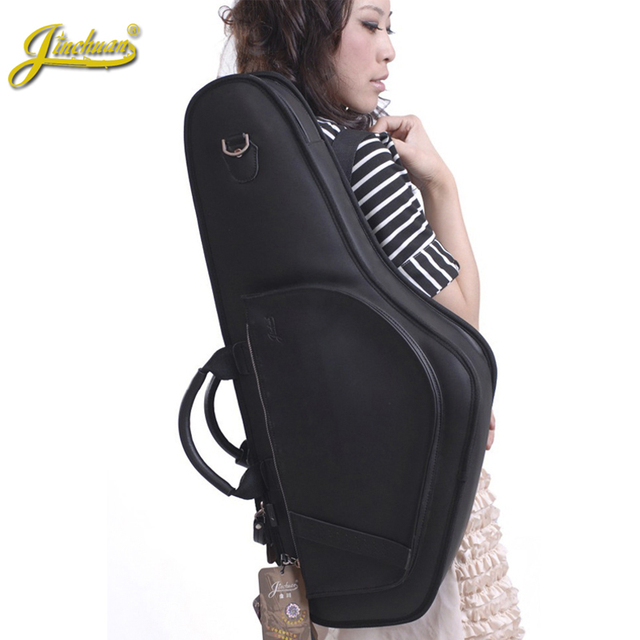 Quality professional alto saxophone sax bag shockproof waterproof bag e saxophone medianly general double backpack free shipping
