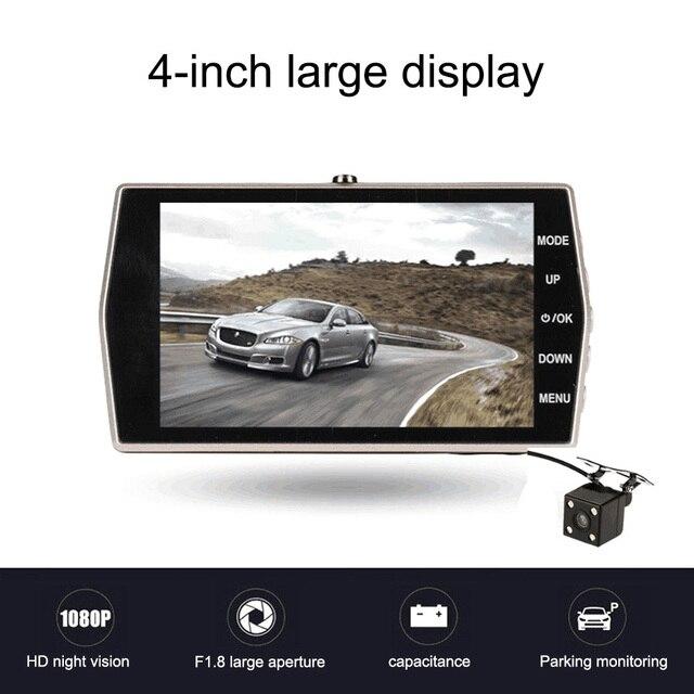 4.0 inch 1080P Full HD Car DVR Camera with Rear View Camera Night Vision Auto Driving Video Recorder 12.0MP Car Dash Camera