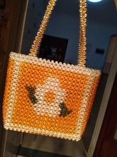 Hand-made beaded bag Handbags Women Summer Beaded Beads Bag Handmade Beach Handbag New Fashion hand made beaded bag handbags women summer beaded beads bag handmade beach handbag new fashion