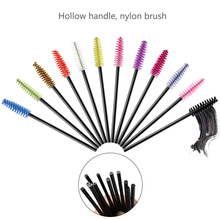 New Hot 6color 50PCS/pack Applicator Eyelashes brush Cosmetic Eyelash Extension Disposable Mascara Wand Makeup Brush