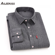 AILEEKISS 100%Cotton Men Shirts Long Sleeve Vacation Business Man Shirt Casual Soft Male Spring Autumn Clothing XT828