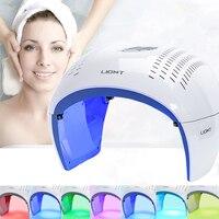 Pdt portátil led photon terapia de luz 7 cores led máscara facial luz fototerapia máquina da lâmpada para acne removedor rejuvenescimento da pele