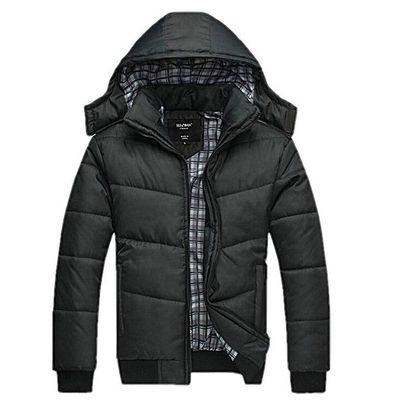 Jacket Men Winter Spring classic solid jacket warm male overcoat ...