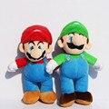 10 Дюйма Super Mario BrosStand МАРИО ЛУИДЖИ Плюшевые Куклы мягкая Игрушка Бесплатная Доставка