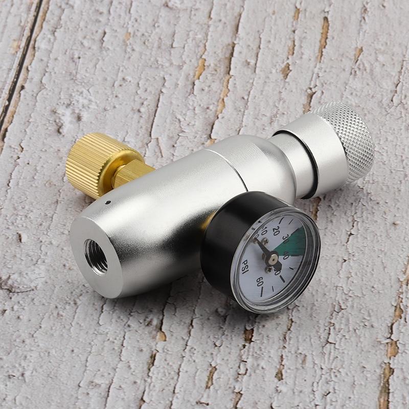 Mini CO2 Regulator, 0 60psi/150psi CO2 Keg Charger Kit Portable Guage for Home