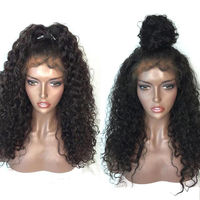 LUFFYHAIR Malaysian Kinky Curly Lace Front Wigs for Black Women 180% Full Density Remy Human Hair Lace Front Wig For Black Women