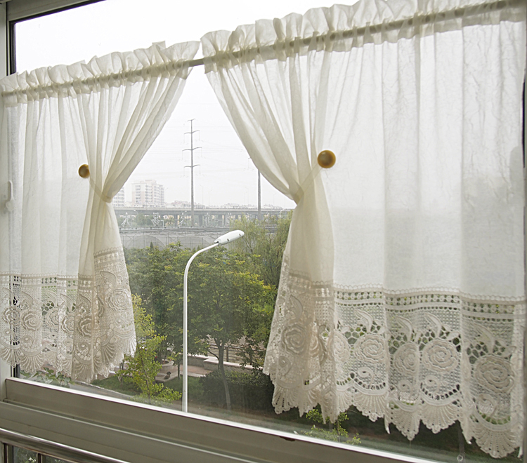 Aliexpress Buy Burnout Lace Curtain For Kitchen And