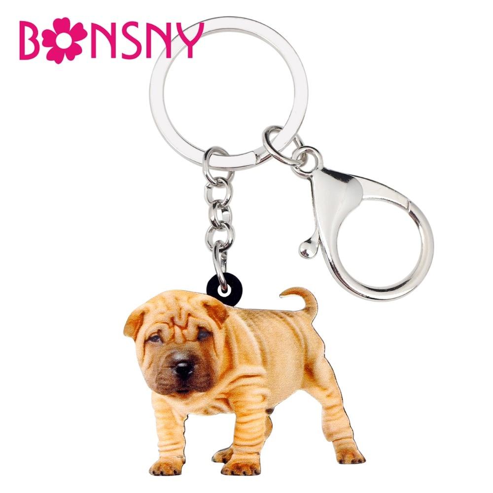 Pei Rating: Bonsny Acrylic Chinese Shar Pei Dog Key Chains Keychains