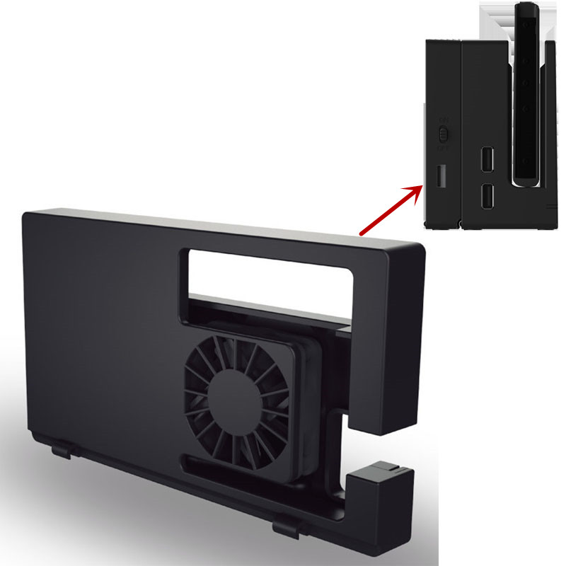 For Nintendo Switch TV Dock Cooler Nintend Switch NS Docking Cooling Fan Airflow System USB External Temperature Control Cool