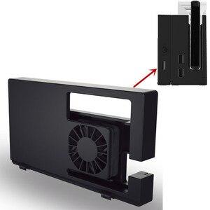 Image 1 - Тв приставка Nintendo Switch, охлаждающая док станция для Nintendo Switch, система воздушного потока, внешний регулятор температуры USB