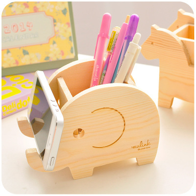 Marvelous Animal Cute Wood Pencil Holder For Pens Office Wooden Desk Organizer For  Pens And Pencils