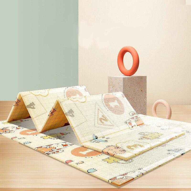 Cinq modèles style carte bébé bébé tapis d'escalade épaississement enfants pliant jeu tapis de mousse XPE tapis rampant