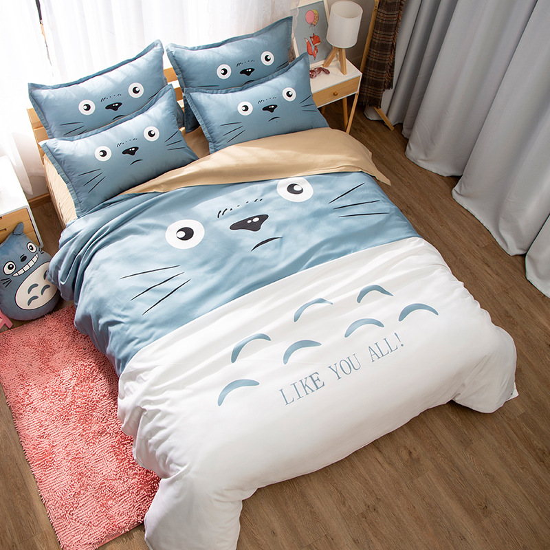 New Totoro 3Pieces Polyester Bedding Sets