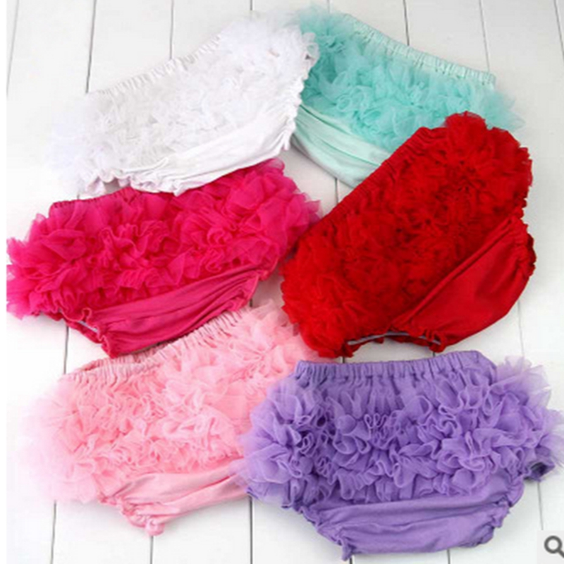 Baby Shorts Newborn Cotton Bloomers Cute Kids Ruffle Diaper Cover Flower Shorts Toddler Girls Fashion Summer Tulle Pants Skirt