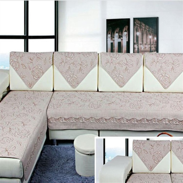 4colors Sofa Covers Fleeced Fabric Knit Eco Friendly Anti Mite Manta Sofa  Slipcover Couch