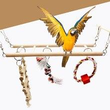 1 шт. подвесной мост попугай скалолазание лестница игрушки для домашних животных Птицы хомяк белка клетка подвесной мост лестница игрушки для домашних животных маленького размера жевательная игрушка