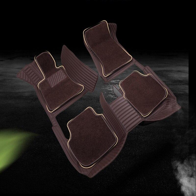 WLMWL tapis de sol de voiture pour Audi tous les modèles a3 8 v a4 b6 b9 b8 c7 q5 a5 a6 c6 q7 q3 voiture style auto coussin housses de tapis de voiture - 5