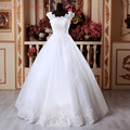 100% Same Real Photo Organza Wedding Dresses Princess Ball Gown Beading Crystal Bridal Gown With Train vestidos de novia WD0091