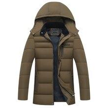 2017 Men Jacket Thick Solid Zipper Plus Cashmere Overcoat Winter Autumn Down Jacket Men Parkas Hombre Invierno Hot Plus Size 4XL