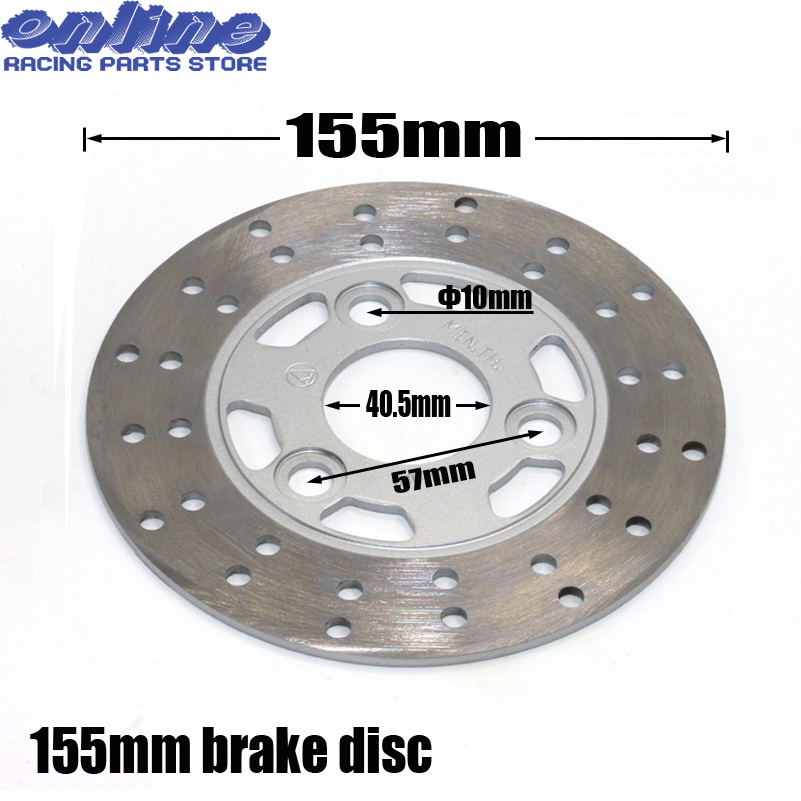 US $18 75 25% OFF|Diameter 155mm front Brake Disc For Chinese GY6 Scooter  Honda Yamaha 50CC Kawasaki Motorcycle ATV Moped Go Kart Spare Parts-in  Brake