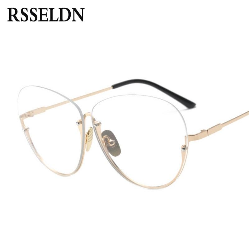 RSSELDN Neueste Halb Randlose Brille Rahmen Frauen Brillenge Branded ...