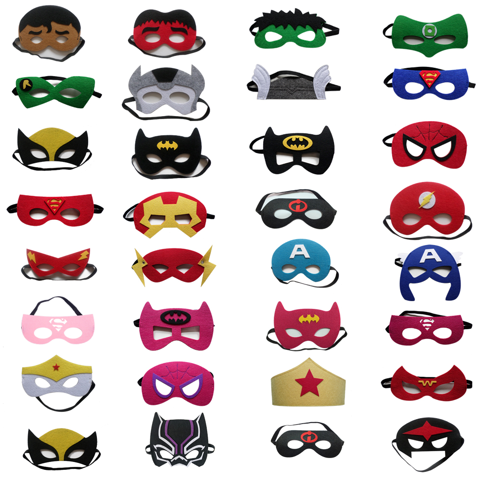 Magiczone Kids superhero masks Kids cosplay mask 210 styles option Halloween Party Dress Up Costume Mask