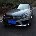 Для Mercedes Benz C Class W205 на передний бампер для автомобильного стайлинга губ Нижняя рамка для бампера декоративные наклейки авто аксессуары