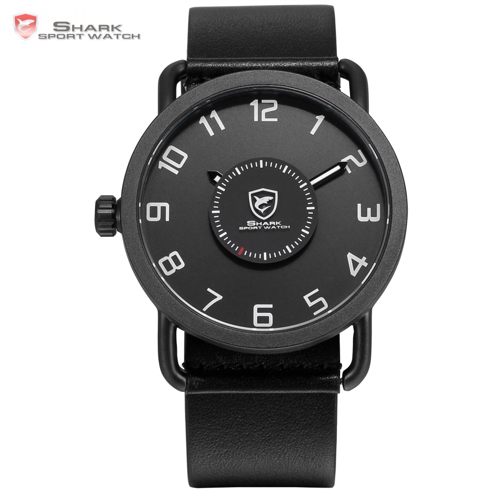 Caribbean Rough Shark Sport Watch Top Brand Luxury Men Turntable Second Waterproof Quartz Black Leather relogio masculino /SH522 шейкер sport elite sh 300 850ml black