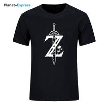 Lato w stylu T-shirt mężczyźni moda Tees legenda Zelda świetna Casual bawełniana koszulka fajny nadruk topy hip-hopowe koszulki Plus rozmiar tanie tanio VVICKLIN Krótki Na co dzień Drukuj COTTON regular O-neck tops Dzianiny