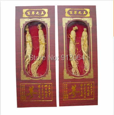 Embalado por la caja de regalo de calidad superior Ginseng root escogiendo de montaña para comida cuidado de la salud de una caja