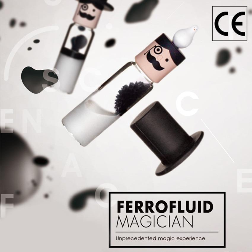 Cylindrical Ferrofluid In A Bottle Anti Stress Toys Magnetic Liquid Ferrofluid Liquid Display Neodymium Magnet Office Toys
