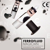 Cylindrical Ferrofluid In A Bottle Anti Stress Toys Magnetic Liquid Ferrofluid Liquid Display Neodymium Magnet Office