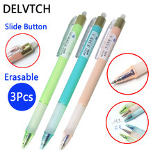 цена DELVTCH 3pcs/set Erasable Pen 0.38MM Erasable Refill 8Colors Gel Pen Ink Available For Office School Student Writing Stationery онлайн в 2017 году