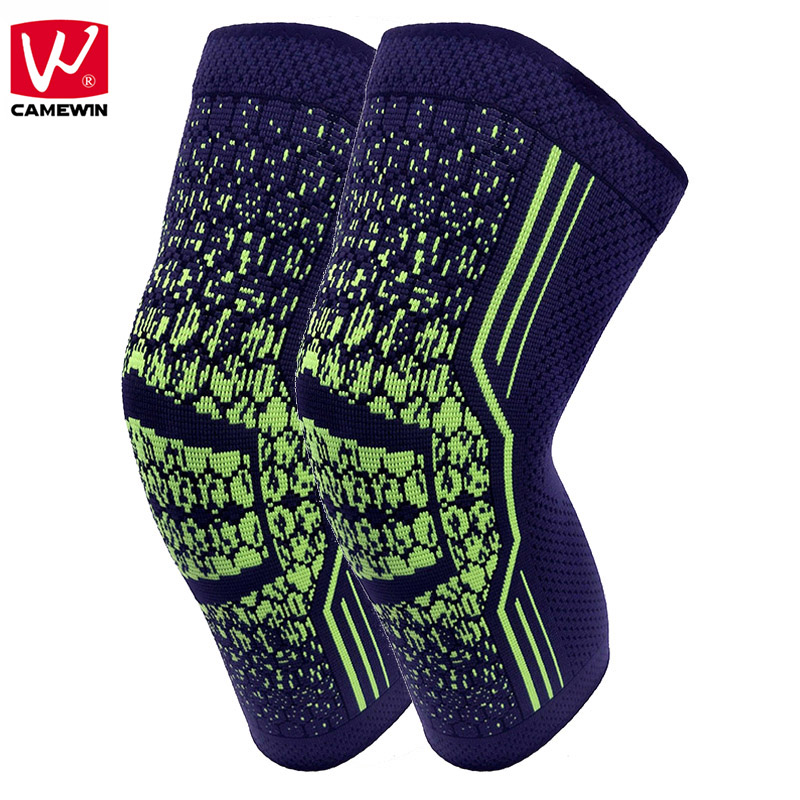 CAMEWIN 1 Pair Knee Protector Knee Guard for Basketball,Badminton,Tennis,soccer,Fitness,Sports,Arthritis and Injury Recovery