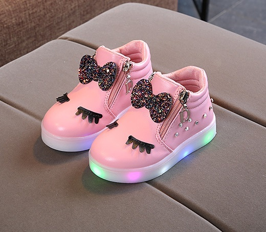 Kış sıcak tutmak 2018 çocuk Kış rahat ayakkabılar Ayakkabı çocuk Sıcak Tutmak Parlak Deri Ayakkabı Kızlar Parlayan moda bot