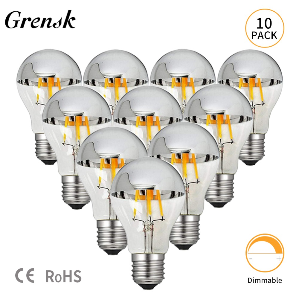 Grensk Dimmable Led Edison Bulb E27 8W 220V Bulbs Filaments Led E26 110V Warm 2700K A19