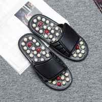 Pantoufle de pied sandales réflexe Stress rotatif Acupuncture Relaxation saine homme et femme une paire chaussures de Massage des pieds