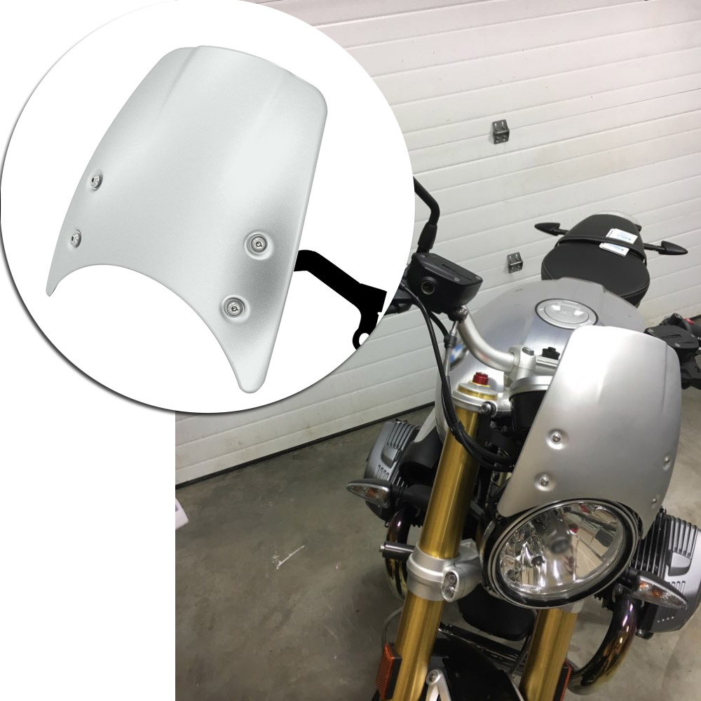 For BMW R NINE T R NINET Wind Deflector Windshield Windscreen 2014-2017 High Quality ABS plastic Motorcycle Parts