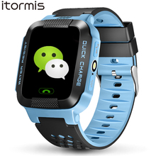 ITORMIS Y21 Children Child Good Watch Cell Telephone Baby Security GPS Location Finder Tracker Torch SOS PK Q100 Q750 for iOS Android