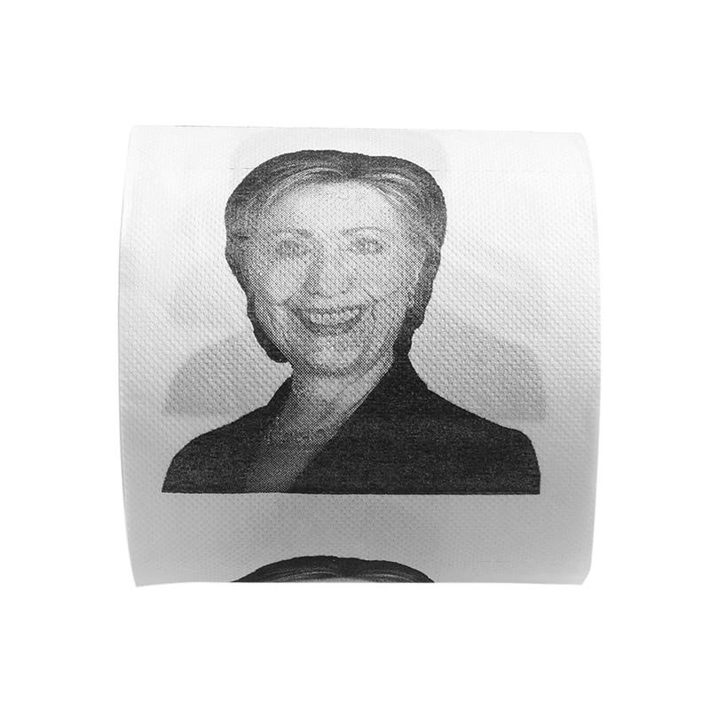 1Pc Hillary Clinton Smile Toilet Paper Roll Gag Prank Joke Gift 2 Ply 240 Sheet