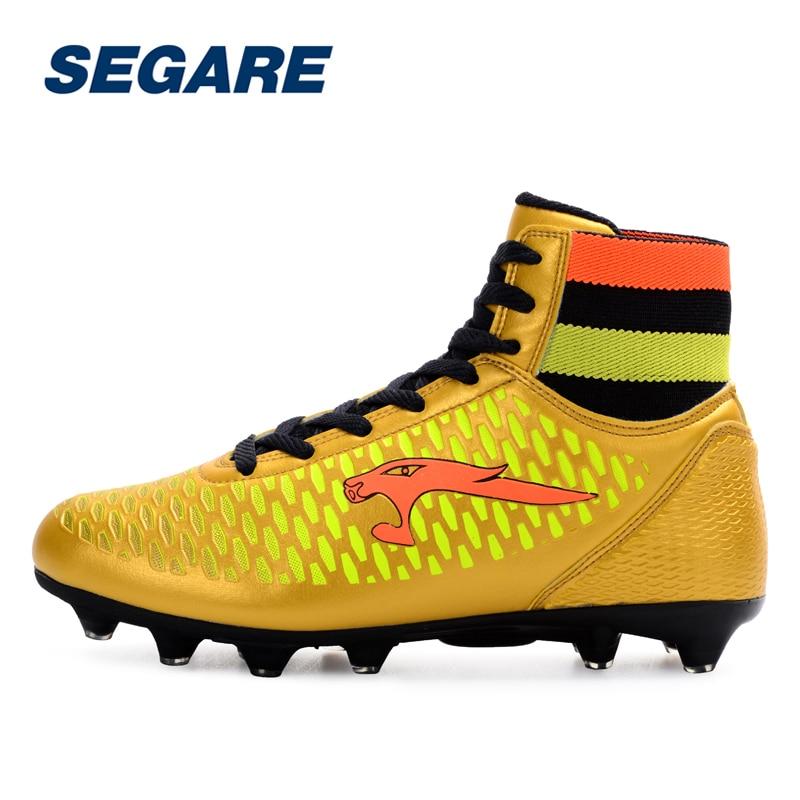 56431df10 Men s High Top Soccer Cleats Boots Outdoor Football Shoes Women Kid Unisex  AG Botas de Futbol Boys Soccer Shoes -in Soccer Shoes from Sports    Entertainment ...