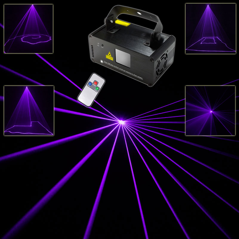 Remote DMX Purple Laser Lines Beam Scans Projector DJ dance Bar Xmas Party Disco DMX512 Lighting Stage Effect Light Show N65B192